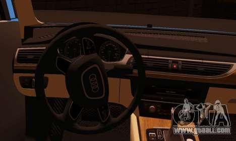 Audi S6 Avant 2014 for GTA San Andreas back left view