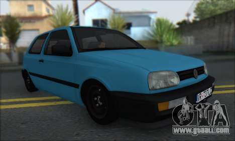 Volksvagen Golf Mk3 for GTA San Andreas left view