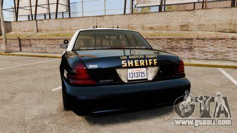 Ford Crown Victoria Sheriff [ELS] Slicktop for GTA 4 back left view