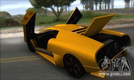 Pegassi Infernus for GTA San Andreas upper view