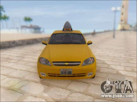 Chevrolet Lacetti Taxi for GTA San Andreas side view
