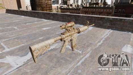 Automatic carbine ME Figure beige Camo for GTA 4 second screenshot