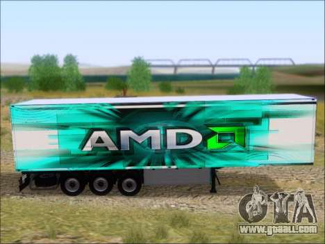 Trailer AMD Athlon 64 X2 for GTA San Andreas back view