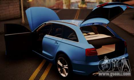 Audi S6 Avant 2014 for GTA San Andreas back view