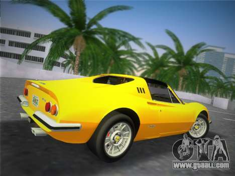 Ferrari 246 Dino GTS 1972 for GTA Vice City back view