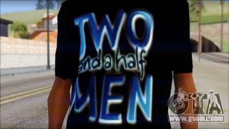 Two and a half Men Fan T-Shirt for GTA San Andreas third screenshot
