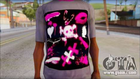 Emo T-Shirt for GTA San Andreas third screenshot