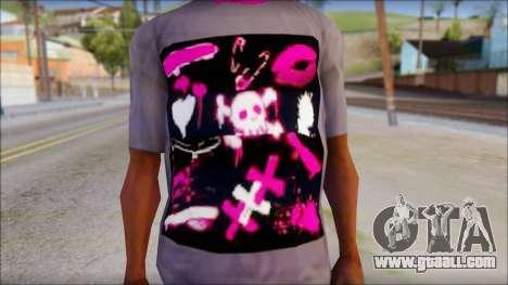 Emo T-Shirt for GTA San Andreas third screenshot