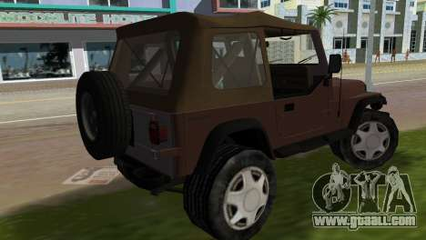 Jeep Wrangler for GTA Vice City left view