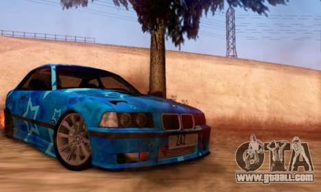 BMW M3 E36 Coupe Blue Star for GTA San Andreas right view