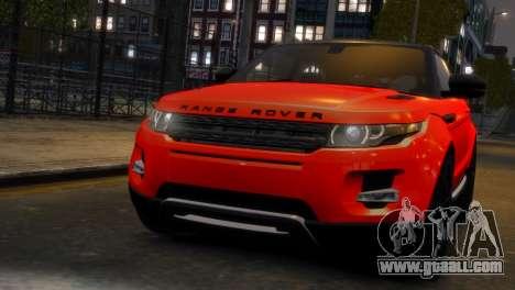 Land Rover Range Rover Evoque for GTA 4 back left view