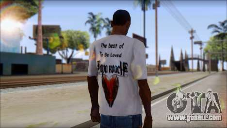 Papa Roach The Best Of To Be Loved Fan T-Shirt for GTA San Andreas second screenshot