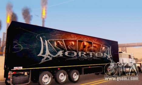 Trailer Chereau Morton Band 2014 for GTA San Andreas right view