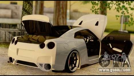 Nissan GT-R V2.0 for GTA San Andreas inner view