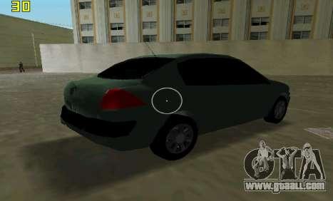 Renault Megane Sedan 2001 for GTA Vice City inner view
