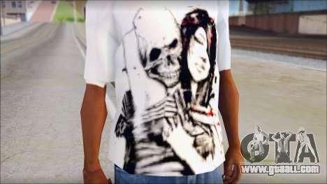 BFMV Russian Roulette T-Shirt for GTA San Andreas third screenshot