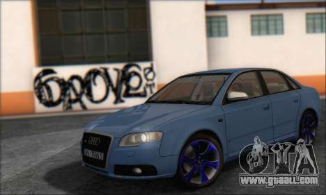 Audi S4 4.0 Quattro 2006 for GTA San Andreas