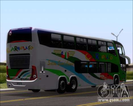 Marcopolo Paradiso G7 1800 DD 6x2 Scania K420 for GTA San Andreas back view