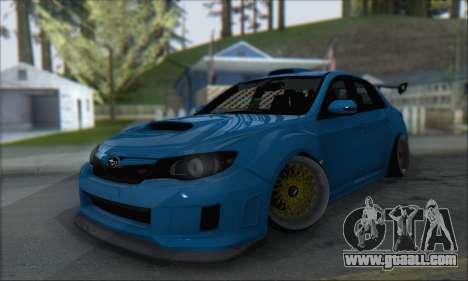 Subaru Impreza WRX STI 2010 for GTA San Andreas