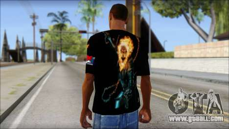 Ghost Rider T-Shirt for GTA San Andreas second screenshot