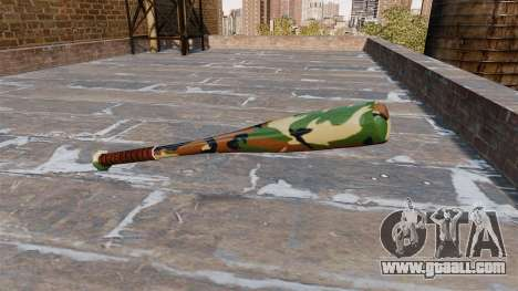 Baseball bat Camo A008 for GTA 4 second screenshot