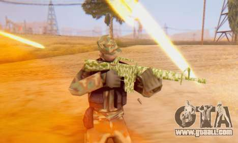 Camo M16 for GTA San Andreas fifth screenshot