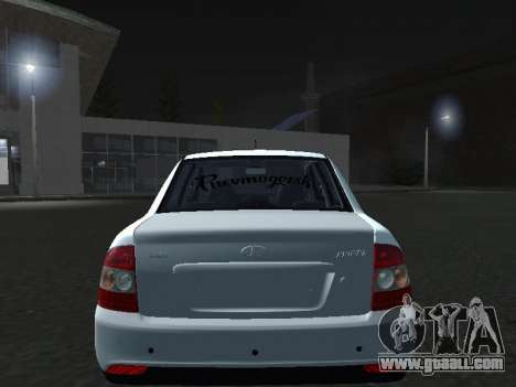 Ваз 2170 Pnevmogorsk for GTA San Andreas back view