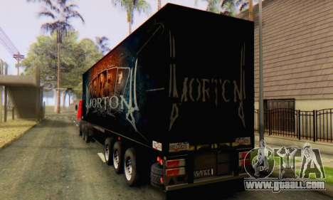 Trailer Chereau Morton Band 2014 for GTA San Andreas back left view