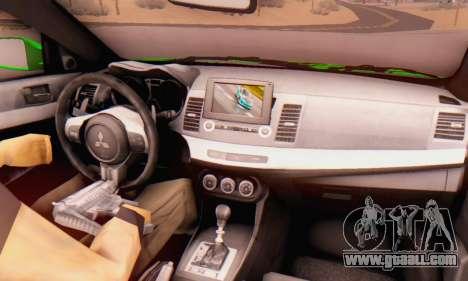 Mitsubishi Lancer Evolution X Metalhead for GTA San Andreas right view