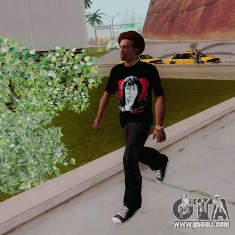 T-shirt c Viktor Tsoi for GTA San Andreas
