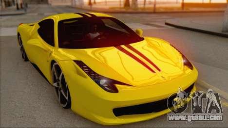 Ferrari 458 Italia for GTA San Andreas