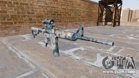Automatic carbine MA Melted snow Camo for GTA 4