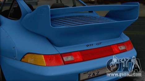 Porsche 911 GT2 (993) 1995 V1.0 SA Plate for GTA San Andreas bottom view