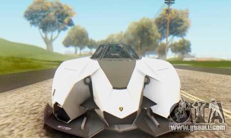 Lamborghini Egoista Concept 2013 for GTA San Andreas back left view