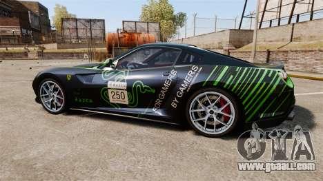 Ferrari 599 GTO PJ1 for GTA 4 left view