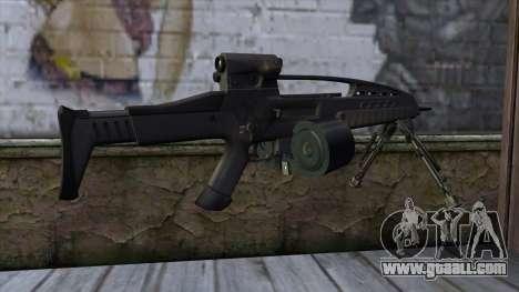 XM8 LMG Black for GTA San Andreas second screenshot
