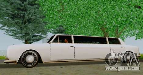 Stafford Limousine for GTA San Andreas left view