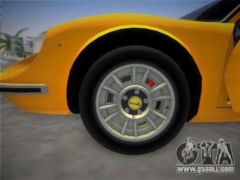 Ferrari 246 Dino GTS 1972 for GTA Vice City upper view
