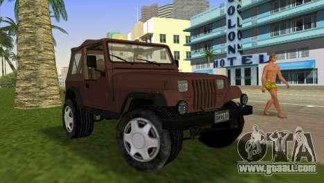 Jeep Wrangler for GTA Vice City