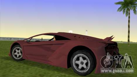 Zentorno from GTA 5 for GTA Vice City left view