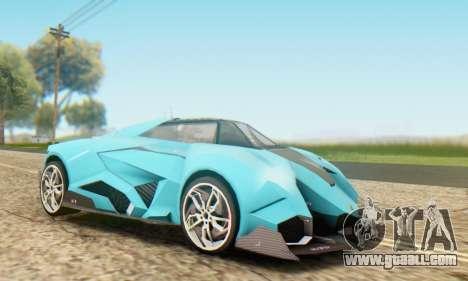 Lamborghini Egoista Concept 2013 for GTA San Andreas left view