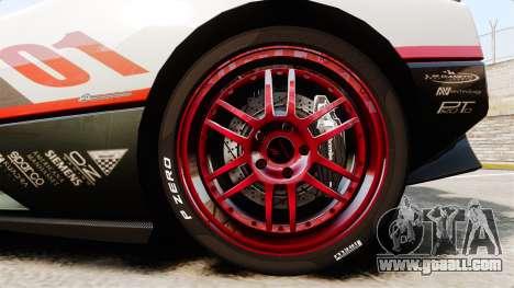 Pagani Zonda C12S Roadster 2001 v1.1 PJ4 for GTA 4 back view