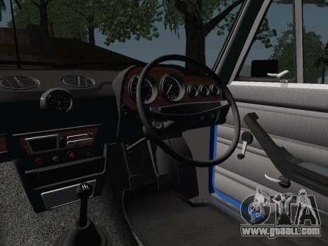 VAZ 21061 for GTA San Andreas inner view