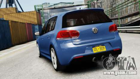 Volkswagen Golf R 2010 for GTA 4 back left view