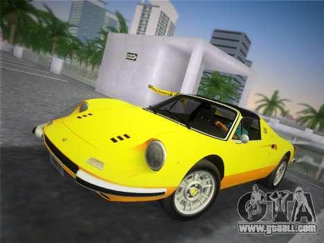Ferrari 246 Dino GTS 1972 for GTA Vice City right view