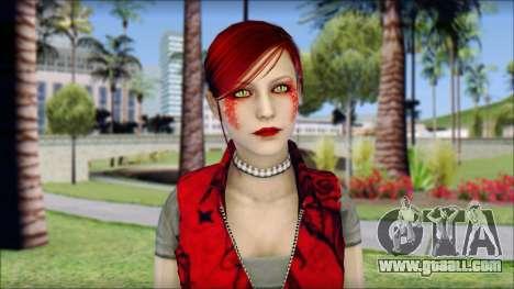 Rock Chicks Red Ped for GTA San Andreas third screenshot