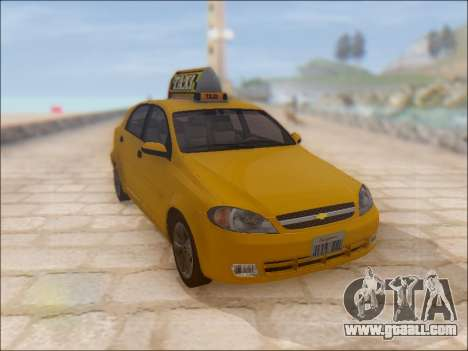 Chevrolet Lacetti Taxi for GTA San Andreas inner view