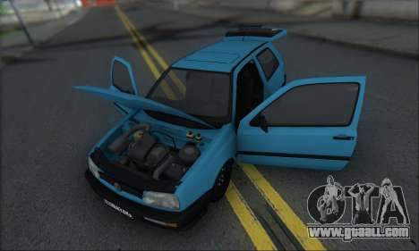 Volksvagen Golf Mk3 for GTA San Andreas inner view