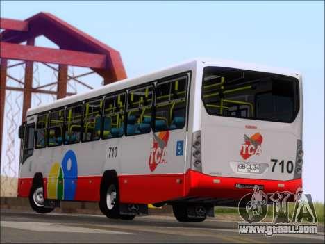 Neobus Mega IV - TCA (Araras) for GTA San Andreas bottom view