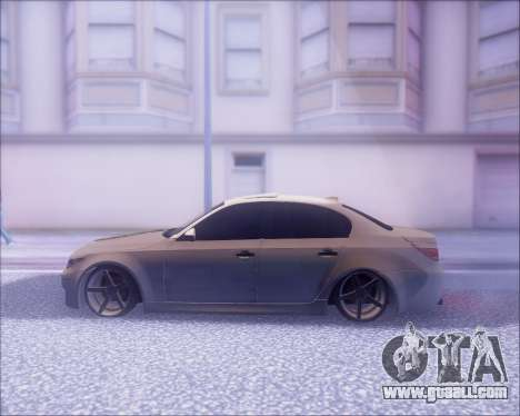 BMW M5 E60 for GTA San Andreas inner view
